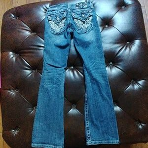Girls size 10 bootcut Miss Me jeans